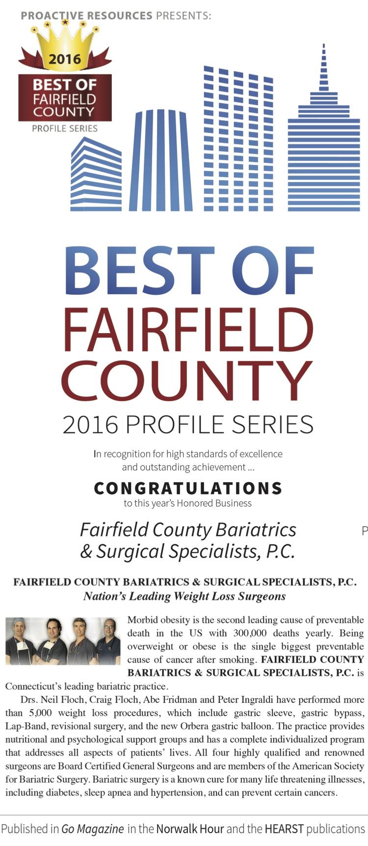 2016 Best Of Fairfield County Profile Series Fairfield County Bariatrics Dr
