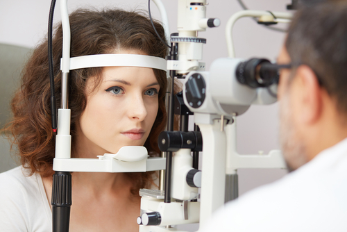Woman Undergoing Eye Exam